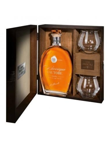 LUIGI FRANCOLI Grappa Regina Marta 42,5° Confezione in Legno con due bicchieri bottiglia 700 ml
