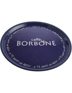 Borbone Vassoio in ABS con anti-sdrucciolo e logo Borbone
