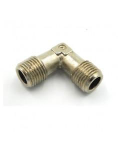 Didiesse Ricambi raccordo a gomito 1/8'' in metallo maschio/maschio