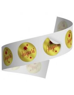 Etichette Auguri Oro 250 pz su 1 rotolo