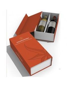 MANDRAROSSA Mandrabook confezione in cartotecnica libro  Chardonnay + Syrah