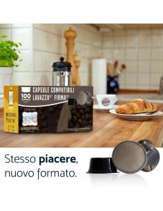 Toda Caffe FIRMA DEK - Cartone 100 Capsule compatibili Lavazza Firma