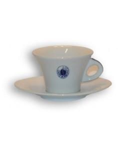 Borbone Tazze Cappuccino in ceramica Confezione da 6 con Piattino