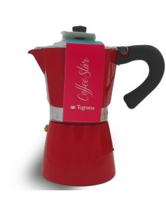 TOGNANA Moka Coffee Star RED Linea Grancucina  6 Tazze