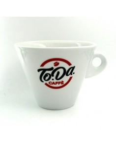 TODA Tazzone Porta zucchero completo di Sottopiatto Nuova linea con logo in ceramica