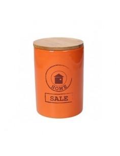 TOGNANA Barattolo Sale Arancione Linea Dolce Casa Diametro 10,5 cm