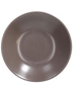 TOGNANA Piatto Fondo cm 22 Tortora Linea Fabric Cartone 6 piatti