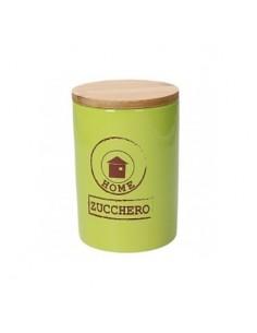 TOGNANA Barattolo ZUCCHERO Verde Linea Dolce Casa Diametro 10,5 cm