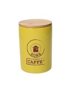 TOGNANA Barattolo CAFFE GIALLO Linea Dolce Casa Diametro 10,5 cm