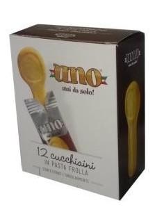 Uno Mai Solo cucchiaino di Pasta Frolla Cartone 24 Astucci da 12 Pezzi