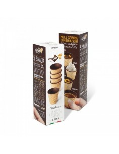 Chocup Mini Cartone 28 Astucci 5 bicchierini wafer ricoperti Cioccolato Fondente