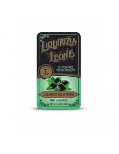 LEONE Liquirizia Pura alla Menta in Lattina 10 g - 24 pezzi