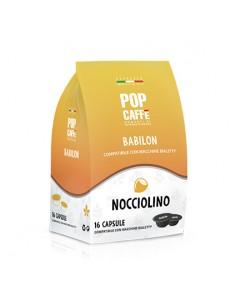 POP CAFFE BABILON NOCCIOLINO Sacchetto 16 capsule compatibili Bialetti