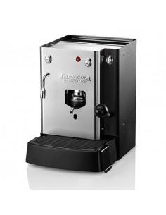 La Piccola SARA Classic + Acqua Calda Macchina Caffe a Cialde Ese 44 con Laterali Neri