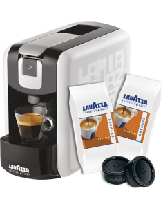 LAVAZZA Macchina Caffe Point EP MINI BIANCA + 100 Capsule CREMOSO