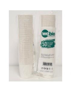 Bicchiere Cartoncino 180 ml BIANCO - Confezione 50 Pezzi
