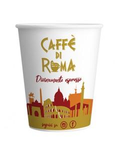 BICCHIERE CAFFE di ROMA ECO Automatici di Carta 180 cc  - Confezione 50 Pezzi