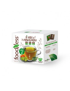 FOODNESS Dolce Gusto TE VERDE & ASHWAGANDHA Confezione 10 capsule