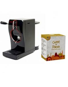 GRIMAC Macchina Caffe cialde TUBE NERA + 100 Cialde MINERVA Caffe di Roma